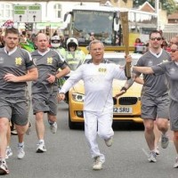 Sorrell and the world's biggest Olympic torch