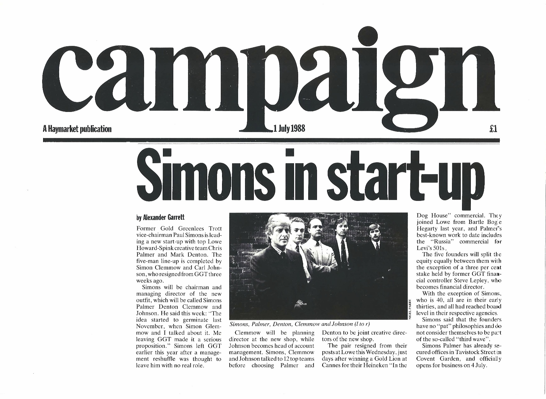 Even after 25 years the people legacy of our upstart agency Simons Palmer lives on