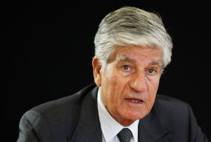 Maurice Levy, French advertising group Publicis Chief executive, attends a Reuters Global Media and Technology Summit in Paris in this file photoq