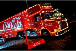 18/12/13 Coca- Cola Christmas Truck - St George's Square, Luton