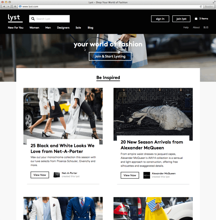Lyst_redesign_homepage1