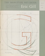 Joanna's commercial release in 1958 was accompanied by an issue of The Monotype Recorder devoted to Gill's typefaces and lettering