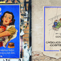 Wartime posters brought up to date with Covid-19 messages